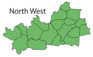 North West Region Map