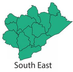 South East Region Map